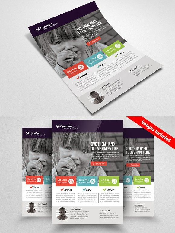 Charity Donation Flyer Templates A4 Flyer Graphic Design