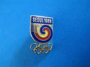 This isn't my pin, but I have a Seoul 1988 Olympic pin just like it!