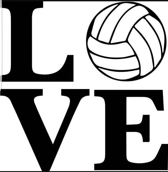 Love Volleyball Custom Volleyball Car Decal Volleyball Yeti Etsy Vinyl Decals Volleyball Vinyl