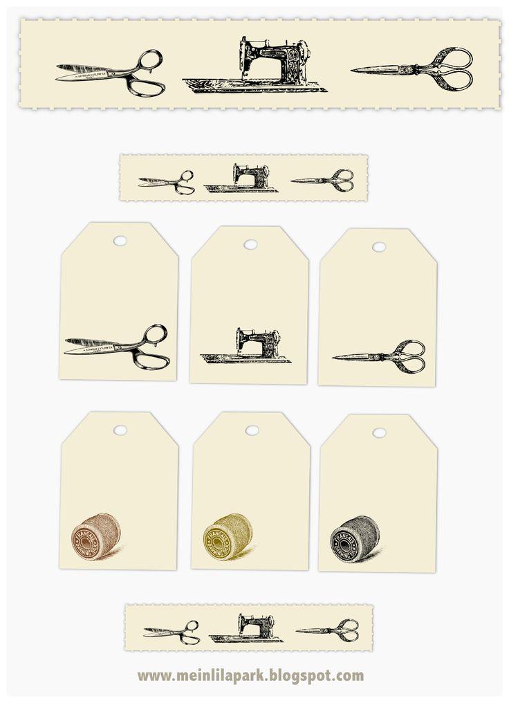 Etiquetas vintage de costura, gratis   -    Free Vintage Sewing Tags