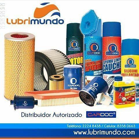 Contamos con la mejor línea de productos para la limpieza y cuidado de tu vehículo.  LubriMundo, S.A. Distribuidor de productos CARDOC. www.LubriMundo.com Tel: (+505) 2224 8438 / 8358 0663  #cardoc #automotriz #gatomecanico #lubrimundo #repuestos #autos #managua #distribuidor #mayor #Nicaragua http://unirazzi.com/ipost/1494959101690639835/?code=BS_KWHiAfXb