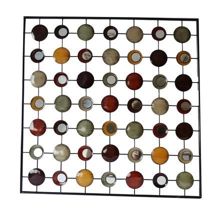 Circles in Square Metal Wall Art | Dunelm