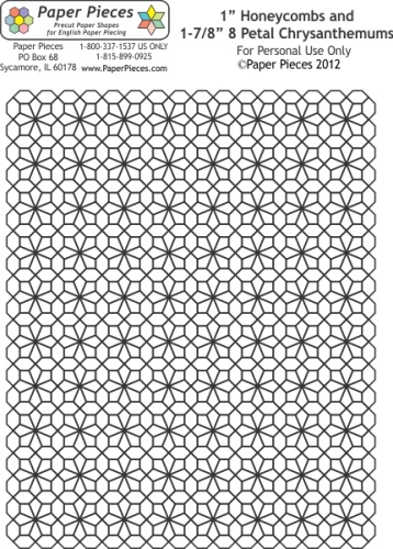 48 best English Paper Piecing images on Pinterest English paper - hexagon graph paper