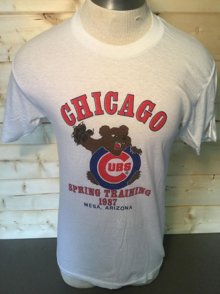 Vintage 1987 Chicago Cubs Spring Training 50/50 T-Shirt Made in USA by 413productions on Etsy