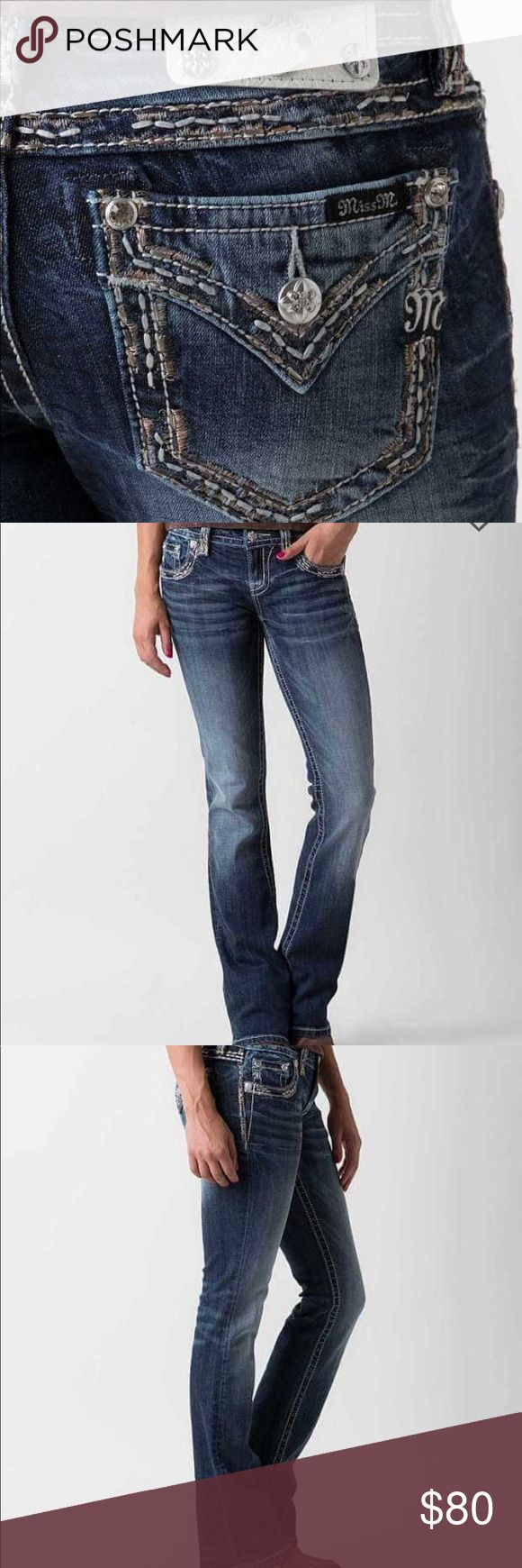 MISS ME boot stretch jeans Awesome condition, only worn once! Inseam 31 1400 Miss Me Jeans Boot Cut