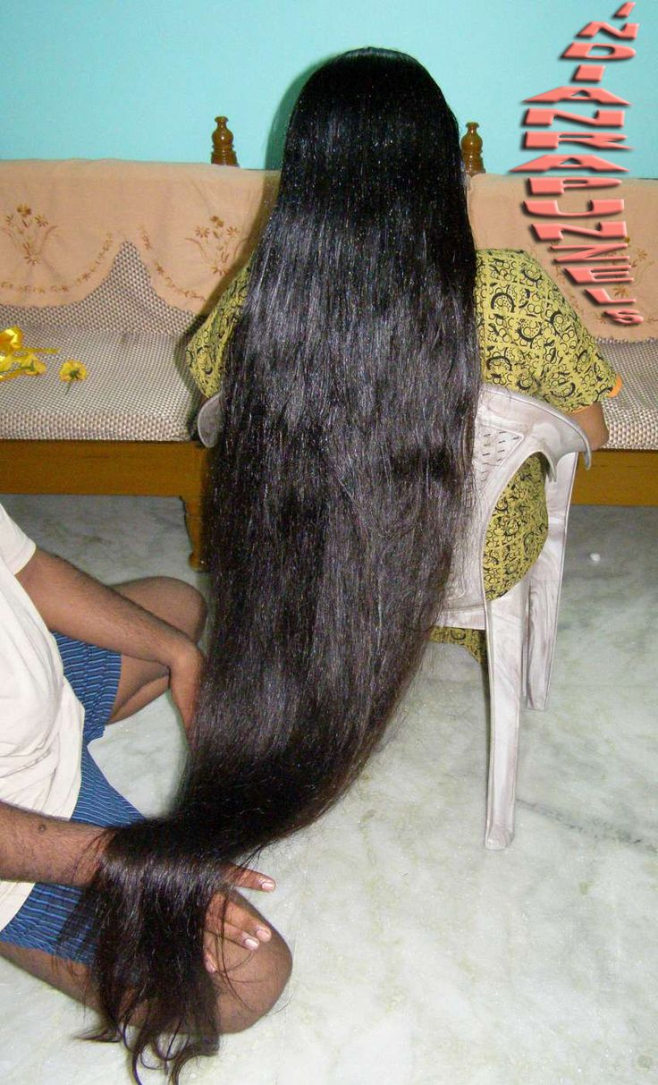Extreme long hair play by men for our long hair diva - Model P. An extreme long hair play video series by indianrapunzels.com