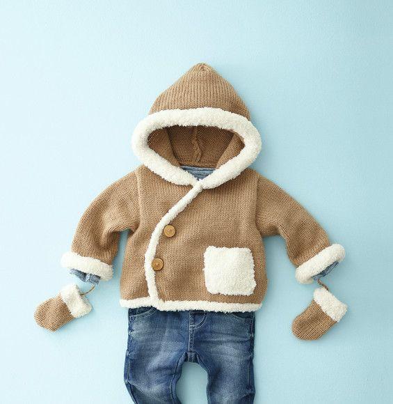 Modelo abrigo con capucha bebé - Modelos para bebés - Phildar