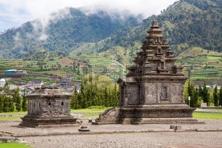 Dieng temple Arjuna complex plateau National Park Wonosobo Central Java…