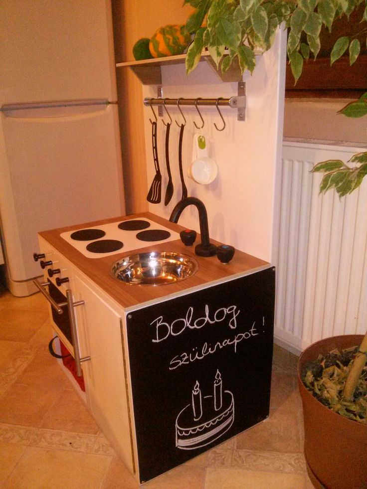 Play kitchen - My husband and I jointly prepared by the two-year-old niece's birthday Gyerek konyha saját kezűleg