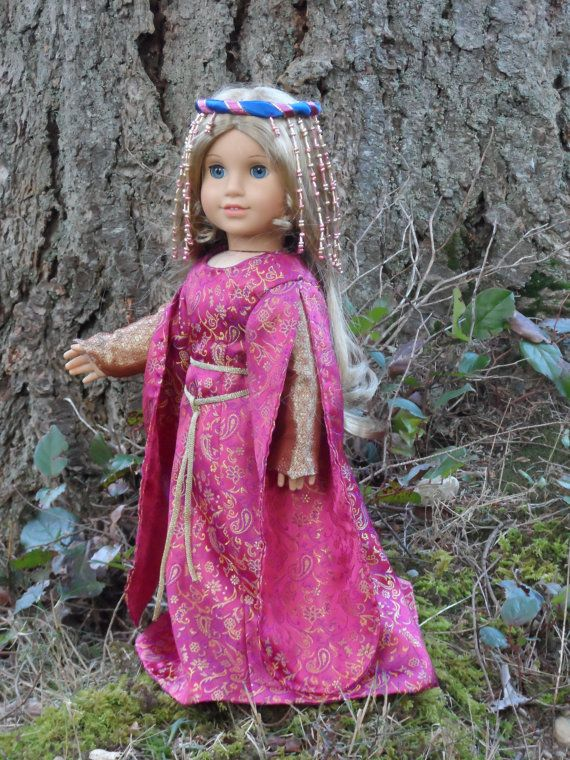 Medieval outfit for your American Girl doll by CarmelinaCreations, $80.00