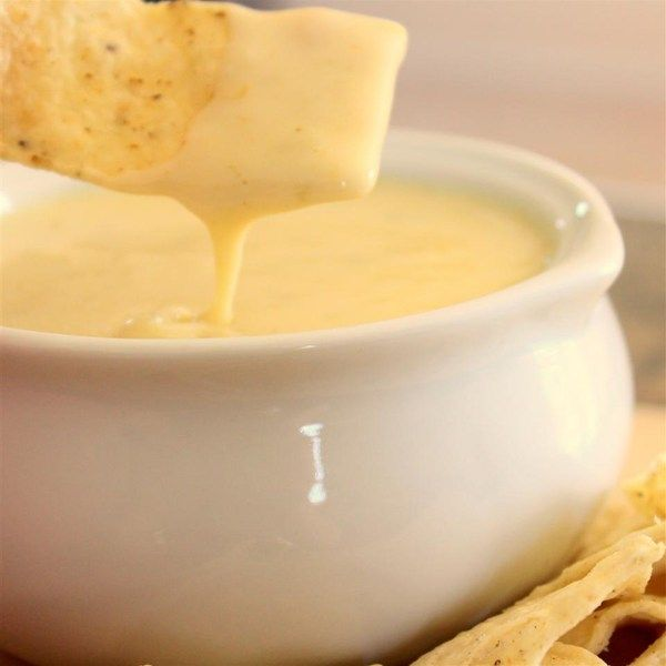 "Mexican White Cheese Dip/Sauce | ""This was a nice change of pace from the usual velveeta and rotel dip. It is a similar recipe to mexican restaurants that serve the white cheese dip."""