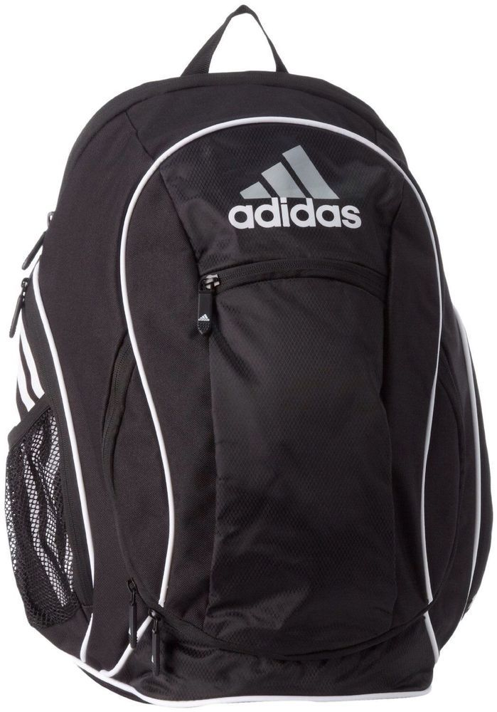Adidas ESTADIO TEAM Backpack - New Mens Black XL Sports Gym Soccer Backpack #adidas #Backpack