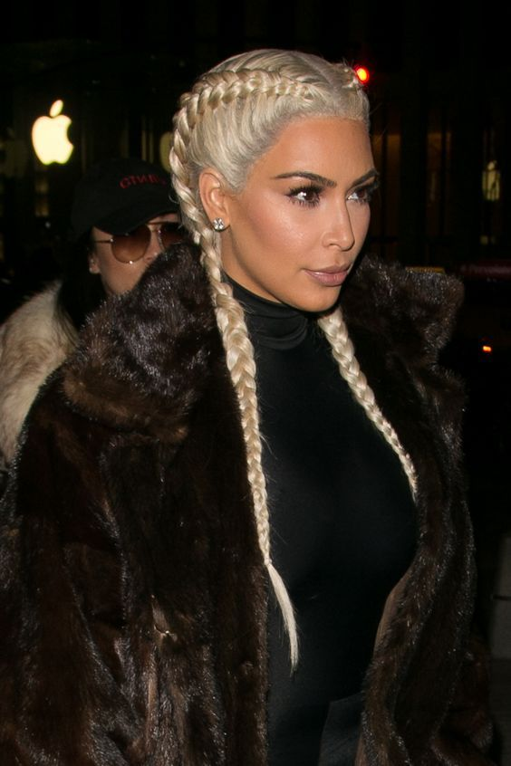 5 Chic Hairstyle Ideas for Summer: #4. Kim Kardashian's Boxer Braids