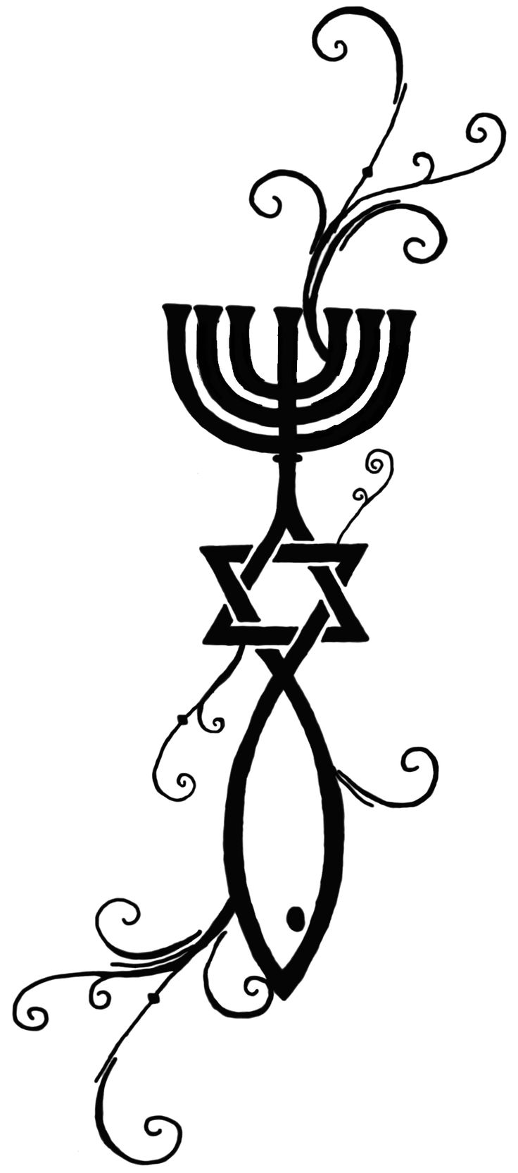 messianic tattoos | ... for messianic judaism this was the original design for my tattoo