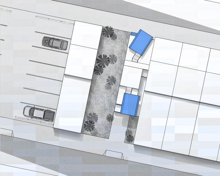 Site Plan; Row Home; 2N Architectural Design; www.nikosnasis.com
