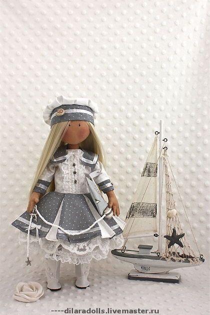 """Человечки ручной работы. Ярмарка Мастеров - ручная работа текстильная кукла """"Анабэль"""" продана. Handmade."""