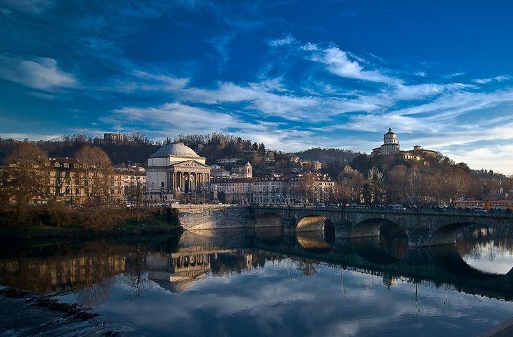 #Torino: il Po, la Gran Madre e il Monte dei Cappuccini. #panorami