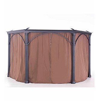 Sunjoy Universal Privacy Curtain for Mulford Hardtop Hexagonal Gazebo