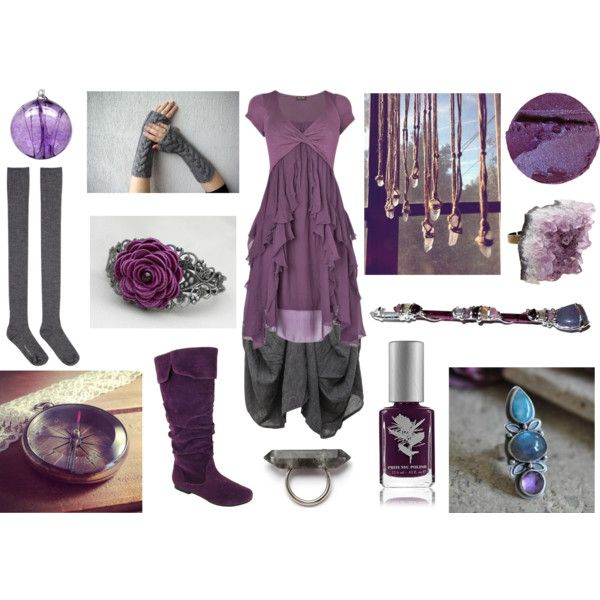 Purple Mystic by maggiehemlock on Polyvore featuring Phase Eight, GRIZAS, Hansel from Basel, Qupid, Barlow, AstralEYE, Priti NYC and Kitras Art Glass