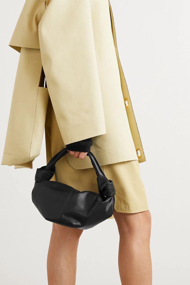 Black Mini knotted leather tote | Bottega Veneta | NET-A-PORTER Mango Bags, Bag Icon, New Bag, Leather Accessories, Bottega Veneta, Fashion Advice, Celebrity Style, Black Leather, My Style
