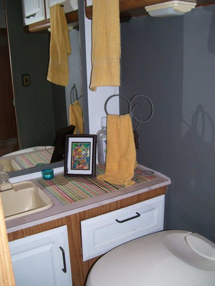 Best RV Decor Images On Pinterest Rv Rv Campers And Th - Small travel trailers with bathroom for bathroom decor ideas