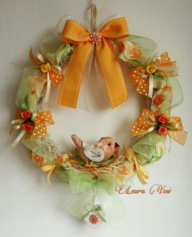 Uccellino nel suo nido www.facebook.com / fattoconamorelaura #cucitocreativo #creativemamy #creativas #handmade #pasqua