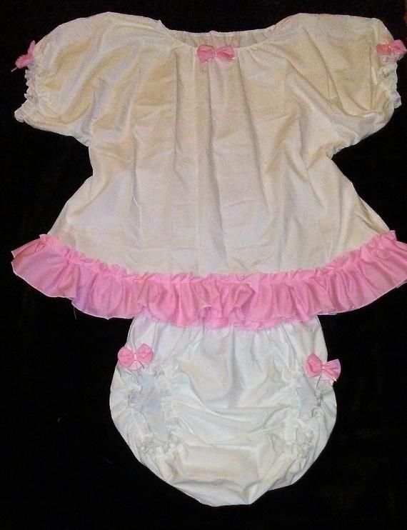 fd16e2ba3 Adult Baby Sissy Cotton Dress Diaper Cover Panties Crossdresser Cosplay  Anime ABDL