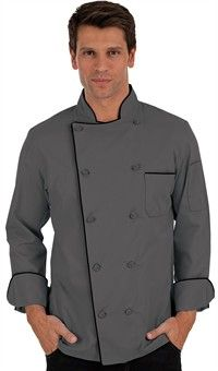 Traditional Fit Chef Coat - Knotted Cloth Buttons - 65/35 Poly/Cotton