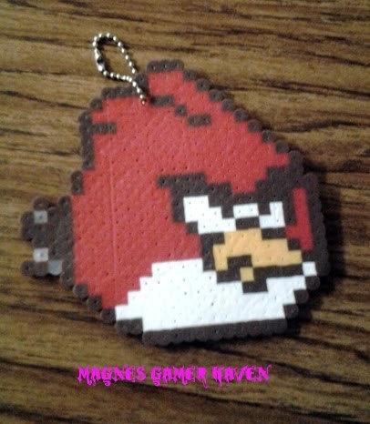 Angry Bird Keychain. $3.00, via Etsy.