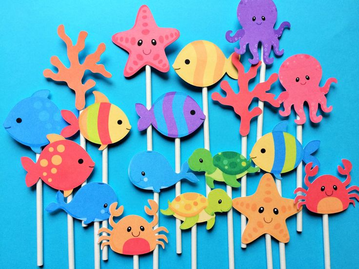 Sea Life Cupcake toppers, 18  Ocean cupcake topper,  Under the sea cupcake toppers, sea creatures toppers, sea life theme party, Ocean party by Fairfable on Etsy https://www.etsy.com/listing/236747898/sea-life-cupcake-toppers-18-ocean