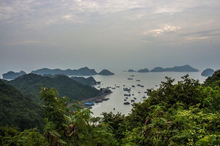 Lan Ha Bay seen from the Canon Fort on Cat Ba Island. #travel #view #bay #island #vietnam #lanhabay #catbaisland #gosquab