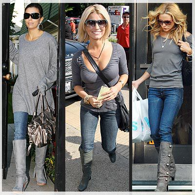 i need grey knee high boots! - 22 Best How I Plan To Pull Off Knee High Boots Images On Pinterest