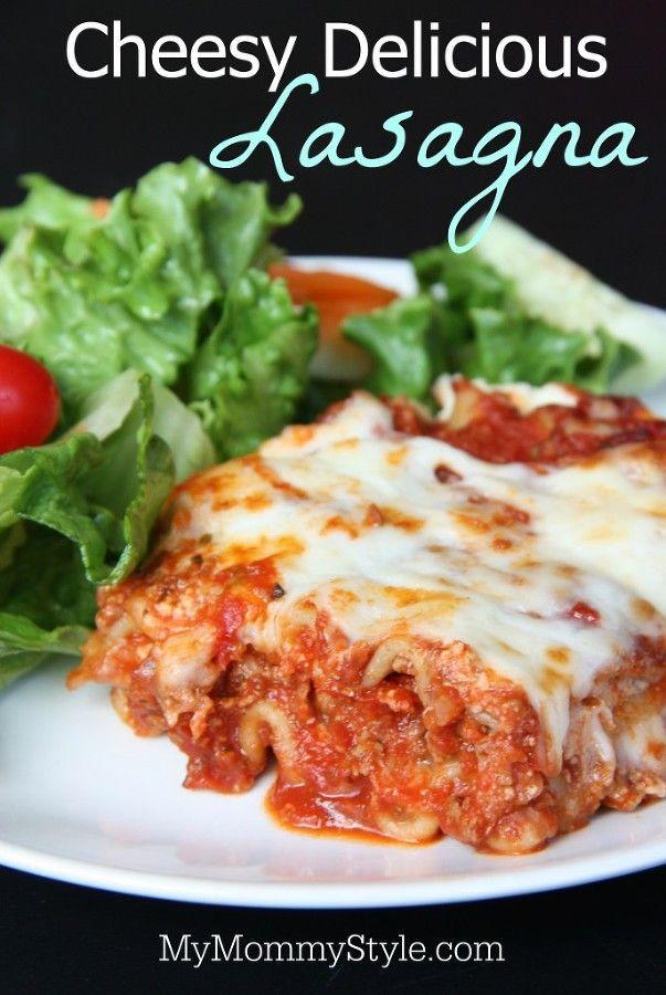 Cheesy Delicious Lasagna