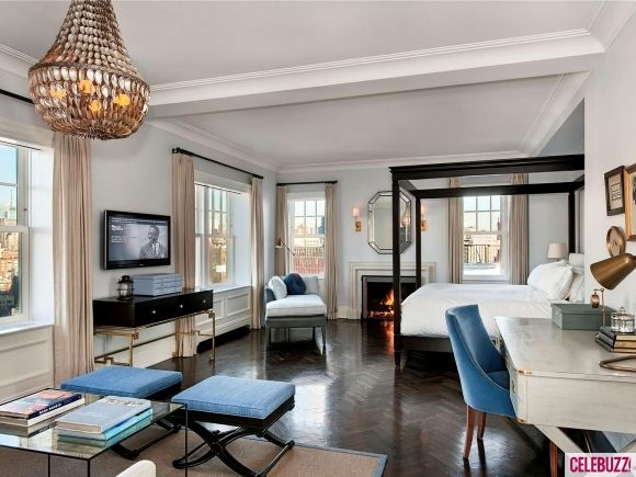 Master bedroom in NYC penthouse apartment. Stunning.