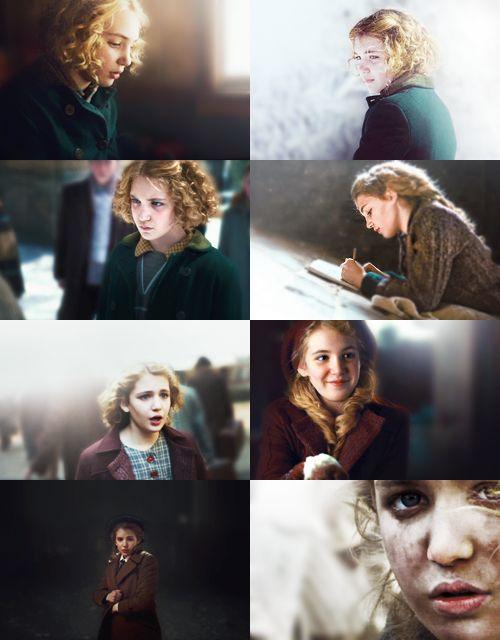 """""""Agora acho que somos amigas, essa menina e eu. Em seu aniversário, foi ela quem deu um presente - a mim."""" Obrigada, Liesel..."""