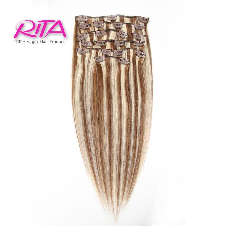 Clip In Human Hair Extensions 100g Human Hair Clip In Extensions 8 Piece 8613 Clip In Afro Hair Extension Rita Hair Clip In