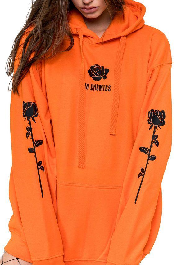 No Enemies Hoodie Sweater Sweatshirt Jumper Top Womens