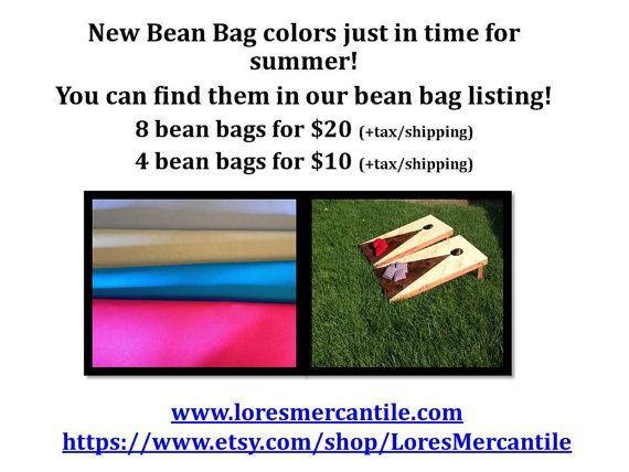 Check out ACA regulation bean bags- 8 bean bags for any cornhole game or any other backyard fun! on loresmercantile