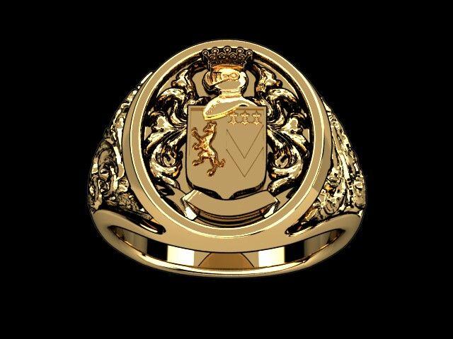 Italiano Family Crest ring I'm having made for Roland