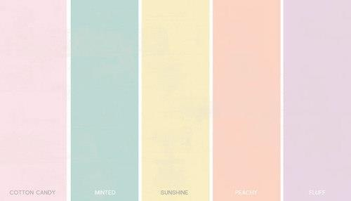 Pastel colors for the girl guest to choose