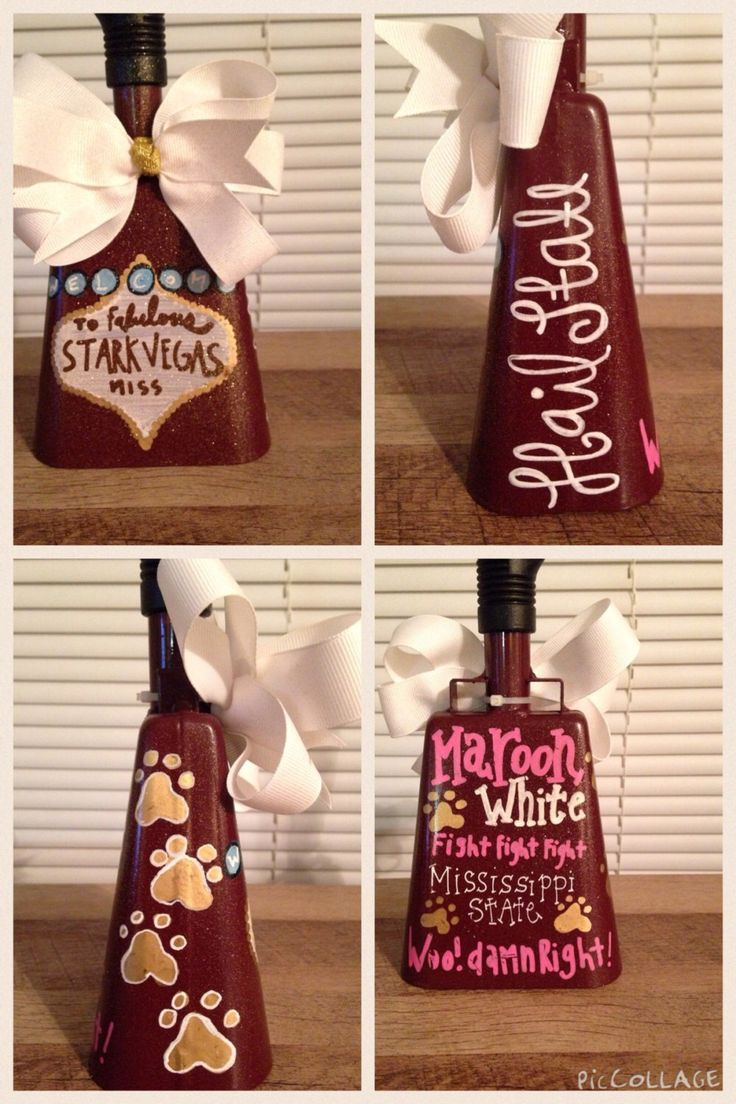 Customized Cowbell by NiftyGiftShoppe on Etsy https://www.etsy.com/listing/258819197/customized-cowbell