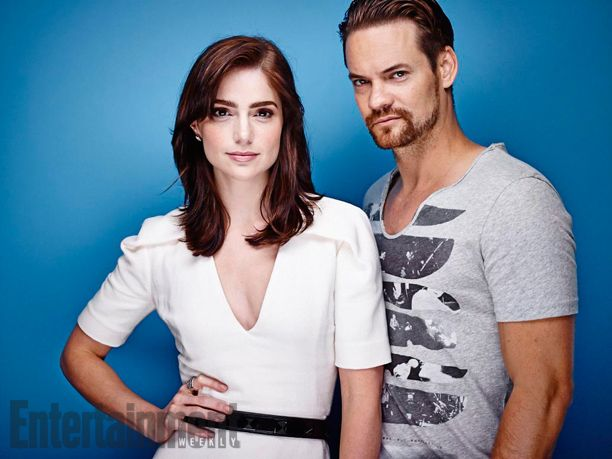 Janet Montgomery and Shane West, Salem. See more stunning star portraits from our photo studio at San Diego Comic-Con 2014 here: http://www.ew.com/ew/gallery/0,,20399642_20837151,00.html