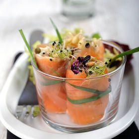 Bouchées de saumon aux graines germées - Cuisine actuelle mobile