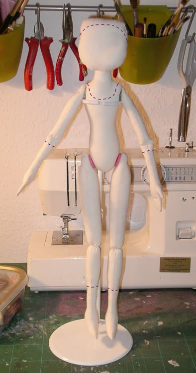 Step 1- prepare your doll for paper-clay from freaky little things