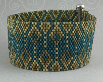 Peyote Bracelet Pattern 470 Bead Weaving INSTANT by AllYouCanBead