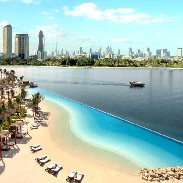 Park Hyatt Dubai Nestled On The Shores Of The Dubai Creek Park Hyatt Dubai Boasts A 100 Metre Infinity Lagoon Leading Into A Beau Dubai Hotel Visit Dubai Dubai