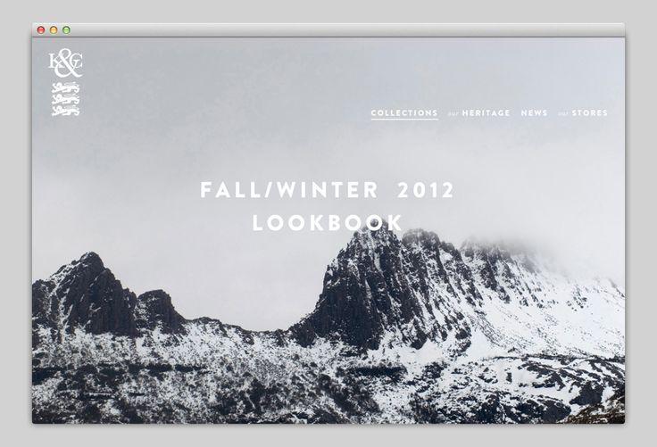 Interactive Look Book Website {Fall 2012} // Kent & Curwen (http://kentandcurwen.co.uk)