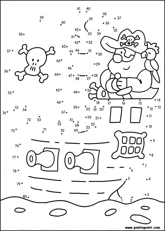 jeu du dessin par points à colorier