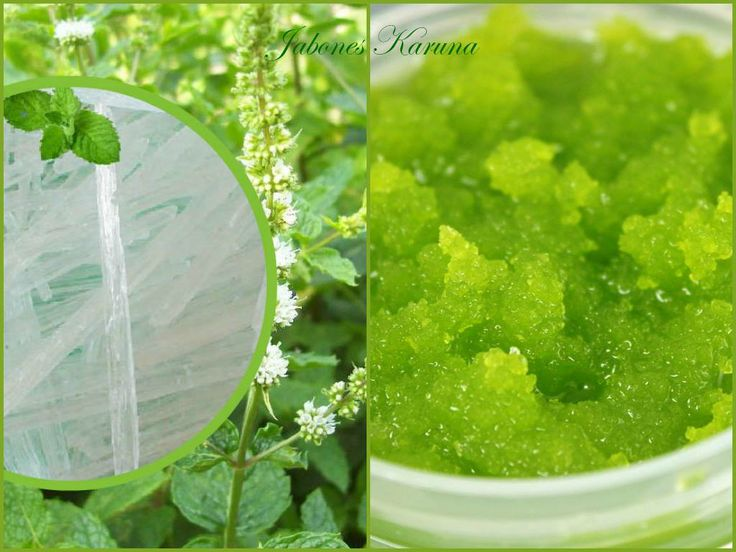 Epsom salt scrub with peppermint