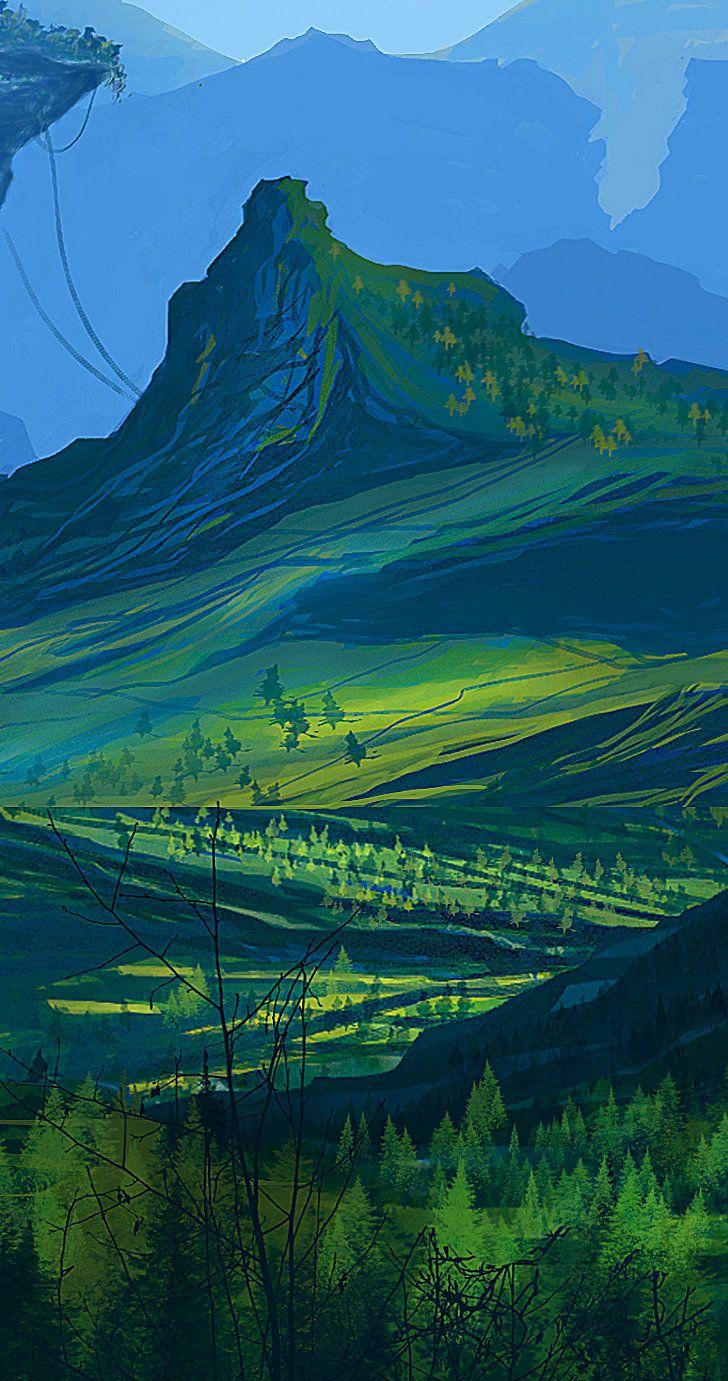 land detail, Gianna Kaye on ArtStation at http://www.artstation.com/artwork/land-detail